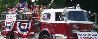 Old fire truck in the Septemberfest parade