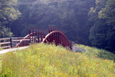 Bridge on recreation path